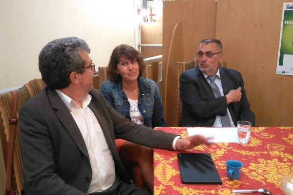 Visite de Madame Bénédicte MESSEANNE-GROBELNY et de Monsieur Jean-Louis COTTIGNY, Vice-Présidents du Conseil Départemental du Pas-de-Calais