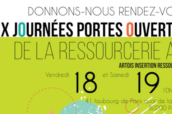 Donnons-nous rendez-vous à la Ressourcerie AIR de Péronne le 18 et le 19 mai prochains