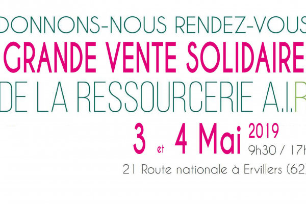 Grande vente solidaire à la Ressourcerie à Ervillers (Pas-de-Calais)