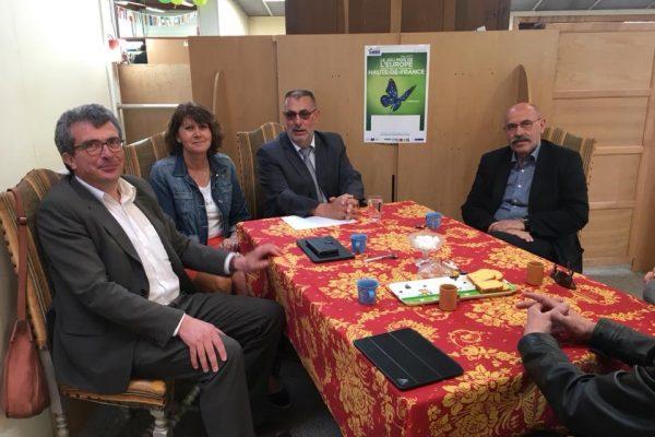 Le soutien réaffirmé de Monsieur Jean-Jacques COTTEL, Président de la Communauté de Communes du Sud-Artois lors du Marché Solidaire…