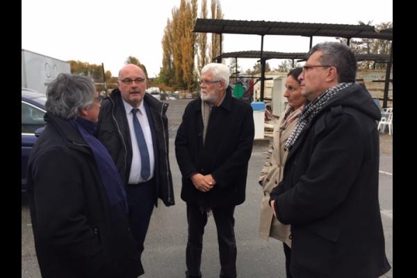 Visite du Président Laurent SOMON, Président du Conseil Départemental de la Somme à l'établissement de Péronne