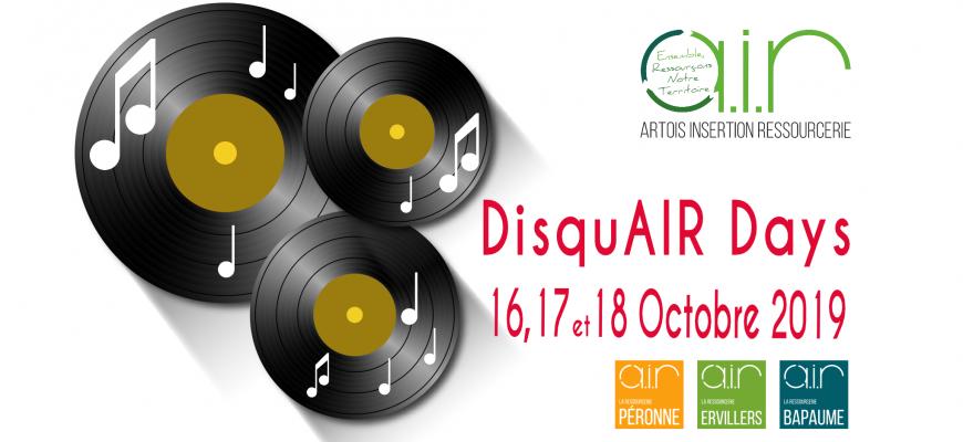 La Ressourcerie AIR organise sa première édition des DisqAIR Days les 16,17 et 18 Octobre 2019