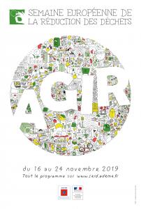 Affiche 2019 - Semaine Européenne de la Réduction des Déchets