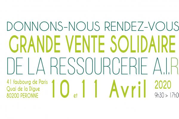 Grande Vente Solidaire à Péronne