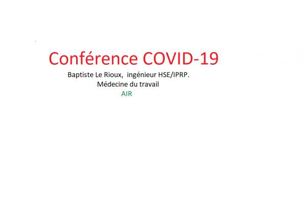 Conférence avec Baptiste Le Rioux de la médecine du travail – Covid 19