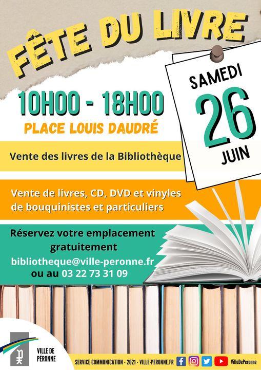 Fête du livre à Péronne le juin 2021